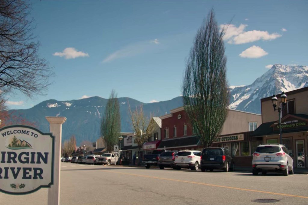 """A scene in the trailer for the new Netflix series """"Virgin River"""" was filmed in Agassiz. (Netflix screengrab)"""